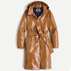 NWT J.Crew Collection coated linen trench coat XS